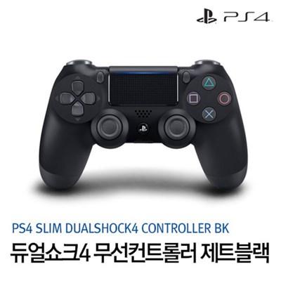 [PS4] 슬림 DUALSHOCK4 무선 컨트롤러 (제트블랙)(CUH-ZCT2G)
