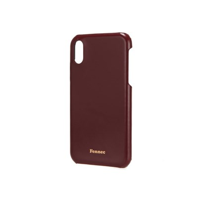 FENNEC LEATHER iPHONE CUSTOM FLAT CASE - WINE