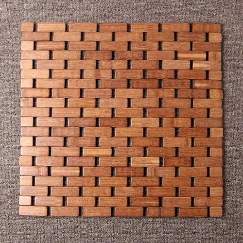 벽돌무늬 대나무방석(39cm)/차량용 쿨방석 시트방석