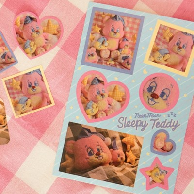 SLEEPY WORLD Teddy Sticker