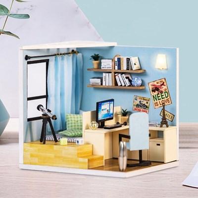 DIY 미니어처 코지 하우스 - 블루 스터디룸_(1278437)