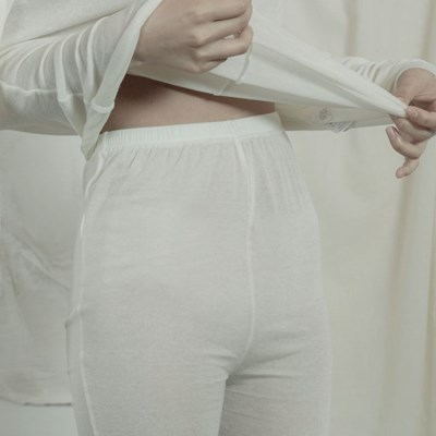 슬릿 레깅스 : Slit leggings - ivory