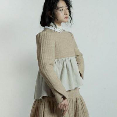 퀼티드 린넨 자켓 : Quilted linen jacket - Beige