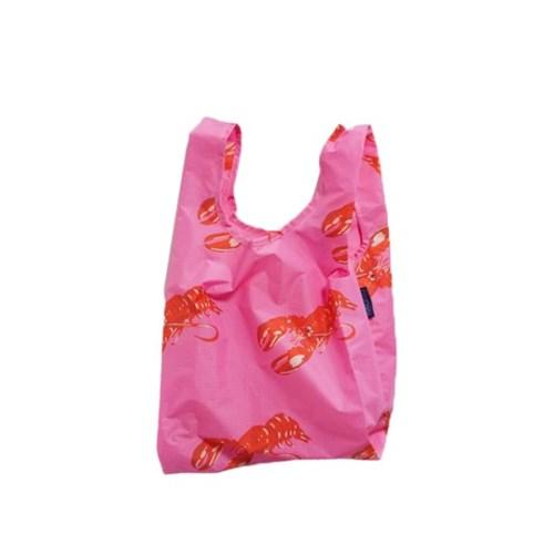 [바쿠백] 소형 베이비 에코백 장바구니 Pink Lobster_(2068550)