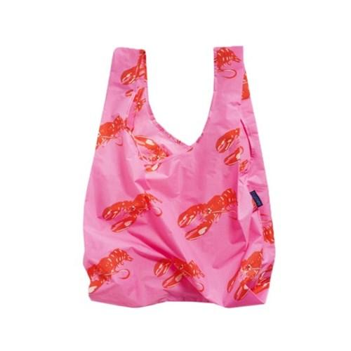 [바쿠백] 휴대용 장바구니 접이식 시장가방 Pink Lobste_(2068544)