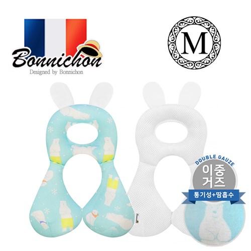 [Bonnichon]프랑스 보니숑 아기 짱구베개 M사이즈 이중거즈 메쉬