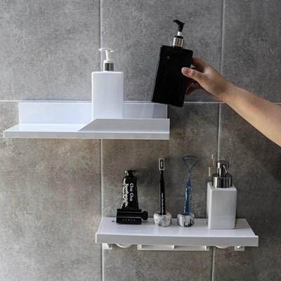 [아토소]벽에 붙이는 무지주 선반 식탁 위 수납 장식장 정리대