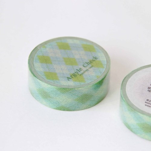 Argyle Check Masking Tape
