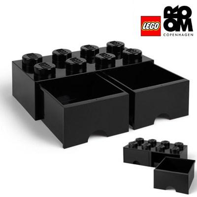 [레고스토리지] 레고 서랍형정리함 8구 (블랙)