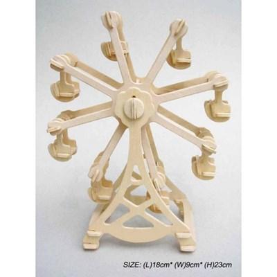 나무조립모형 놀이공원 회전하는 회전관람차
