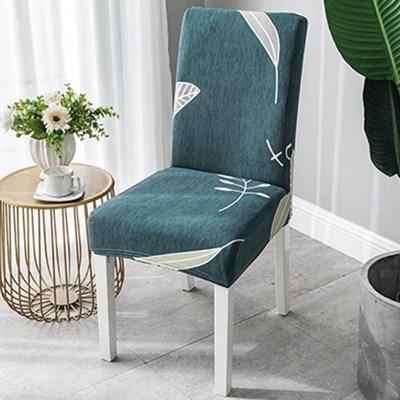 의자리폼 식탁 의자커버 / 나뭇잎 의자시트커버