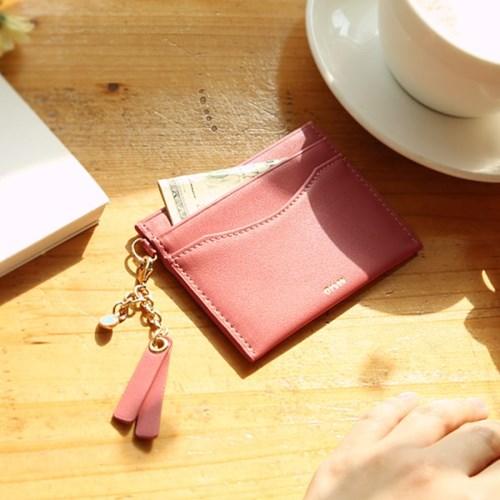 [오팔스톤키링+카드지갑세트] Dear you card wallet(rose)
