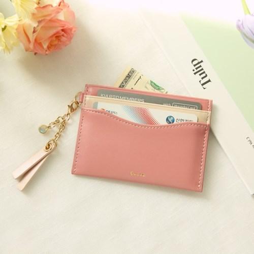 [오팔스톤키링+카드지갑세트]Dear you card wallet(pink/ivory)