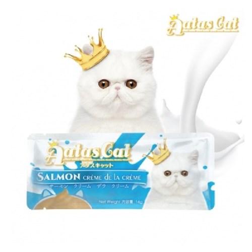 아타스캣 간식 살몬 크리미 16g 1개/고양이츄르,고양이퓨레