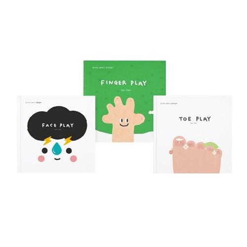 [라운드그라운드] 플레이 북 3권 세트 FINGER+FACE+TOE PLAY
