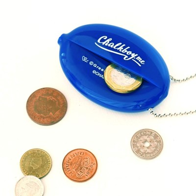 [Greetinglife] CHALKBOY_RUBBER COIN MINI POUCH_블루