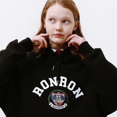 [3/25일 예약배송] RONRON INST MARK HOODIE BLACK