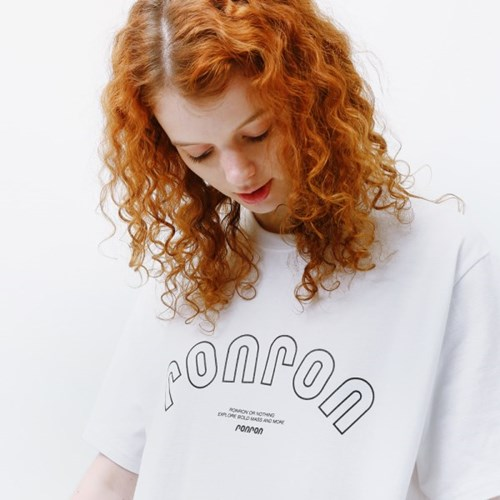 RONRON SIGNATURE T-SHIRT WHITE_(1332018)