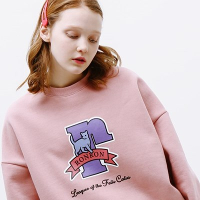 PASTEL CAT LOGO SWEATSHIRT SOFTPINK_(1332196)