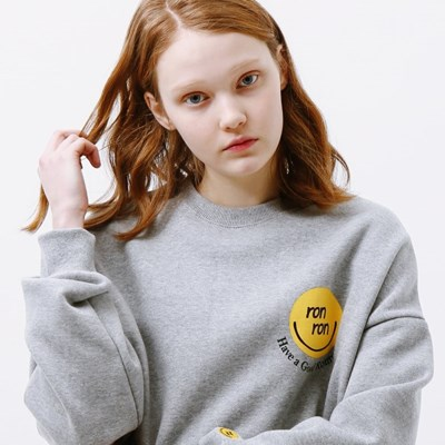 SMILE LOGO SWEATSHIRT GREY_(1332199)