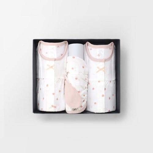 [메르베] 러블리블리 아기 백일선물세트(내의+슈트+모자_(1400109)