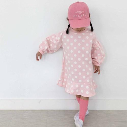 에)밀크 도트 아동 원피스