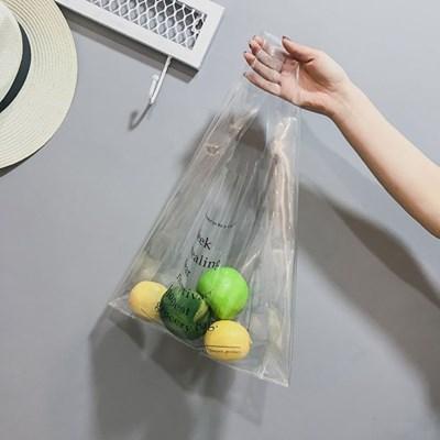 레터링 투명 토트백/ 방수 PVC백