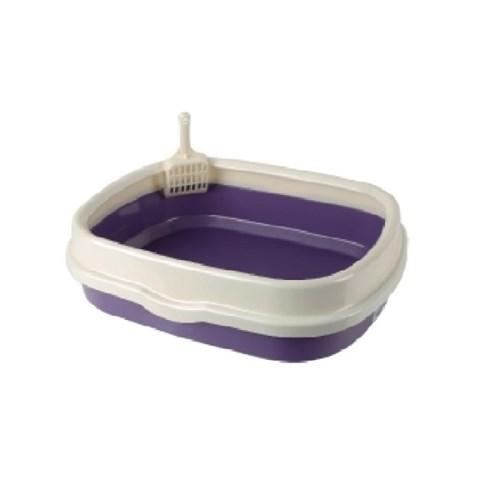 산시아 블루파우 가든 퍼플 평판 화장실/고양이 화장실