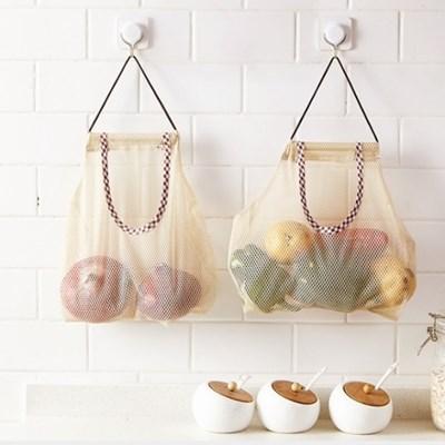 실속있는 양파 감자 보관망 비닐 보관함 2type