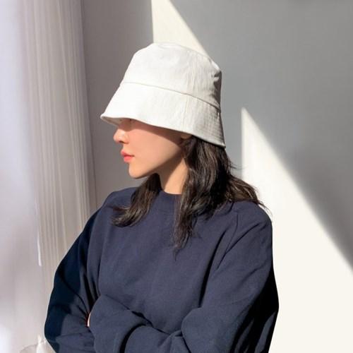 숏 린넨 버킷햇 모자