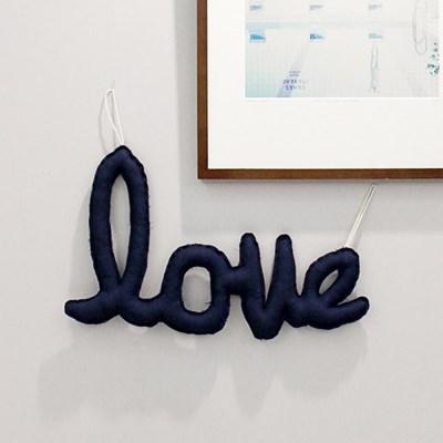 {린넨러브가랜드}Linen LOVE Cushion Garland_네이비