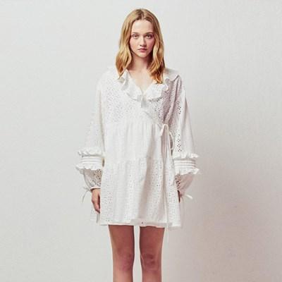 EYELET WRAP MINI DRESS_WHITE (EETZ1OPR01W)