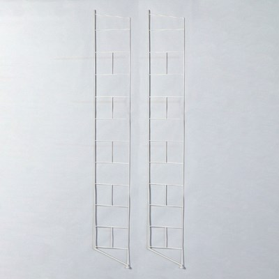 철재 스텐딩 시스템 모듈선반 지지대 2개 묶음-화이트