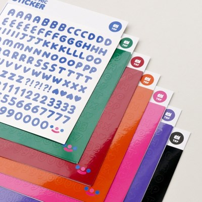 On graphic.RiCO FONT sticker - deep color