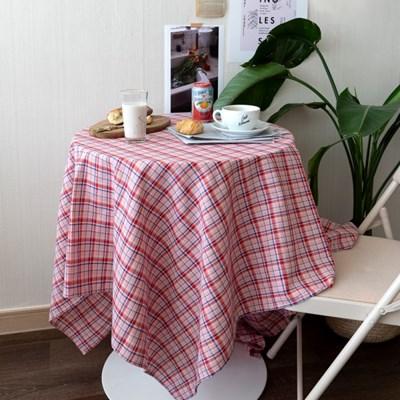 온더핑크주스체크 식탁보 테이블보 2size 테이블러너