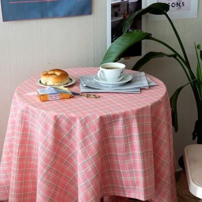 온더소프트핑크체크 식탁보 테이블보 2size 테이블러너