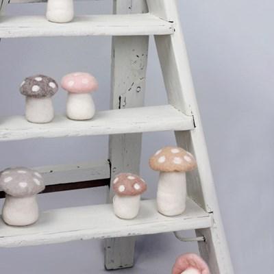 버섯 장식 파스텔 4 color