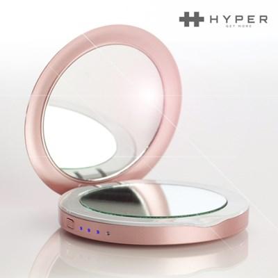 [해외직구] 하이퍼 모바일배터리 LED컴팩트 미러