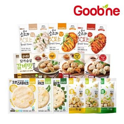 [굽네] 맛보장 닭가슴살 12종 3팩 골라담기