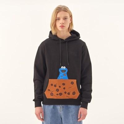 [SS20 SV X Sesame Street] Cookie Pocket Hoodie(Black)