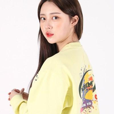 (UNISEX)Splash Color Sweatshirt(LEMON)_(1470263)