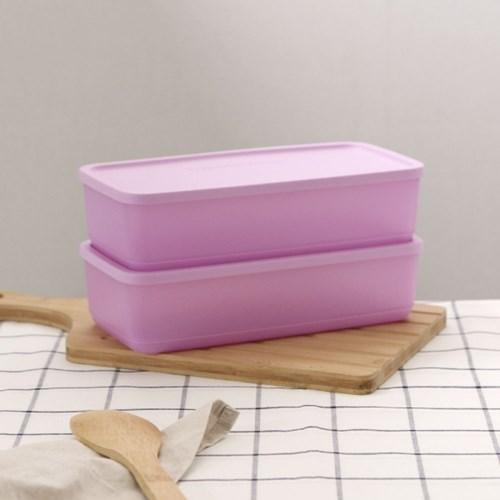 타파웨어 싱싱블록 1.4L 2P 밀폐 보관 냉장기용기