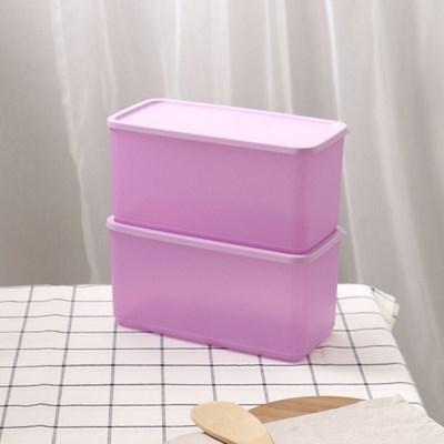타파웨어 싱싱블록 3.1L 2P 밀폐 보관 냉장기용기