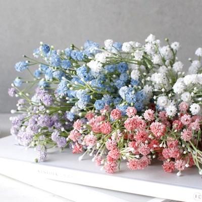 봄빛 안개꽃 플라워 조화 예쁜 빈티지 인테리어 소품