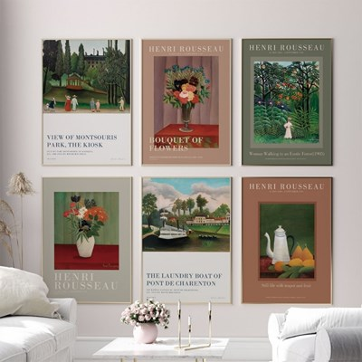 명화 풍경,꽃,정물 그림액자 8종 _ 앙리루소 빈티지 포스터
