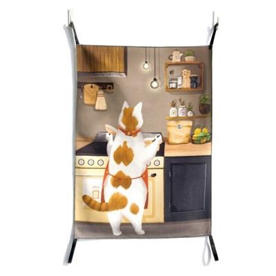 [패브릭 포스터/캔버스 액자] - 야식은 라면 고양이