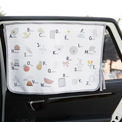 자석 햇빛가리개 파스텔 알파벳
