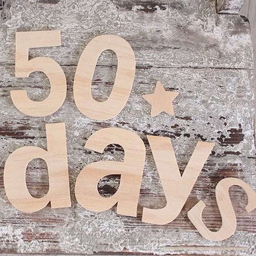 [데코봉봉]우드 알파벳 세트(50days)