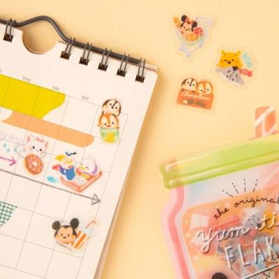 [CRUX sticker] YUM TIME SEAL FLAKE_디즈니 베이비 (그린)