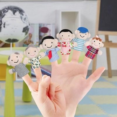 가족 손가락 인형 역할놀이 구연동화 6종 세트